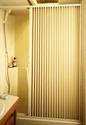 Pleated Shower Door, Ivory - Up to 48