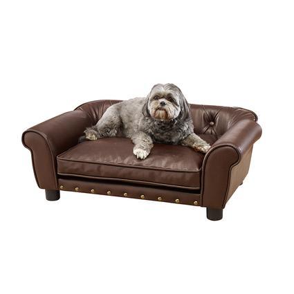 Brisbane Tufted Pet Bed, Brown