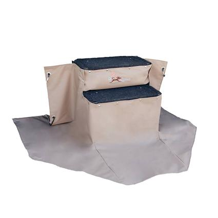 My RV Dog Park Step Skirt and Rug Set, Tan, 2 step 24