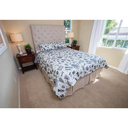 Gray Camping Comforter, Full/Queen, Reversible