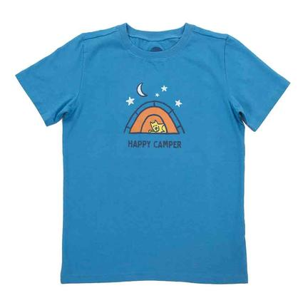Life is Good Boys Happy Camper Crusher Tee, Large
