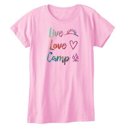Womens Live, Love, Camp Tee, XXL