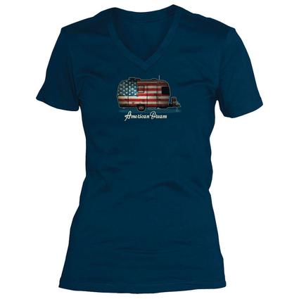 Women's Life is Good, Camper Flag Tee, L