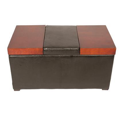 Lift-Top Coffee Table Ottoman, Brown