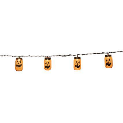 10 Mini Pumpkin Lights, 8L