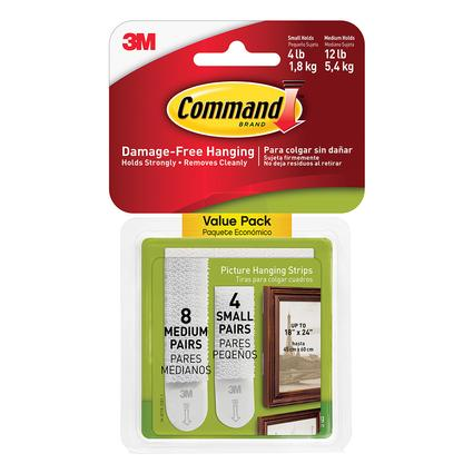 Command Picture Hanging Strips, Small Medium