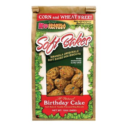 Soft Bakes Dog Treats, 12 oz. Bag, Birthday Cake