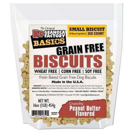 Small Peanut Butter Grain Free Biscuits, 16 oz. Bag