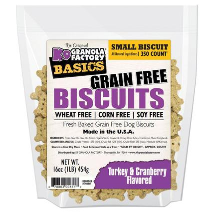 Small Turkey Cranberry Grain Free Biscuits, 16 oz. Bag