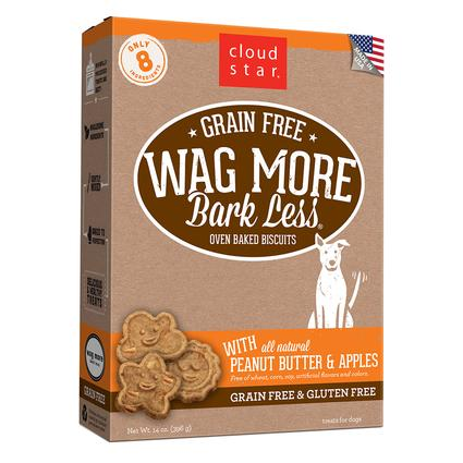 Wag More Oven Baked Grain Free Peanut Butter Apple Biscuits, 14 oz.