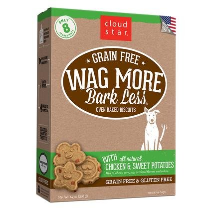 Wag More Oven Baked Grain Free Chicken Sweet Potato Biscuits, 14 oz.