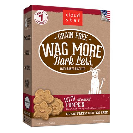 Wag More Oven Baked Grain Free Pumpkin Biscuits, 14 oz.