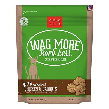 Wag More Oven Baked Chicken Carrots Biscuits, 3 lb. Bag