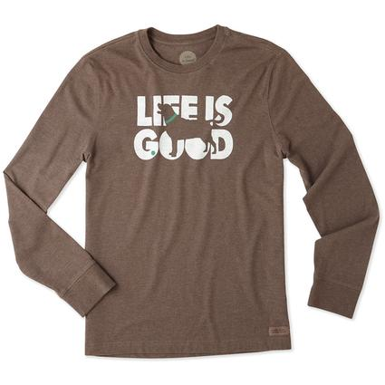 Life is Good Men's Long Sleeve Fetch Crusher Tee, XLarge