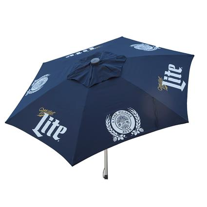 Miller Lite Push-Up Market Licensed Patio Umbrella, 8.5'