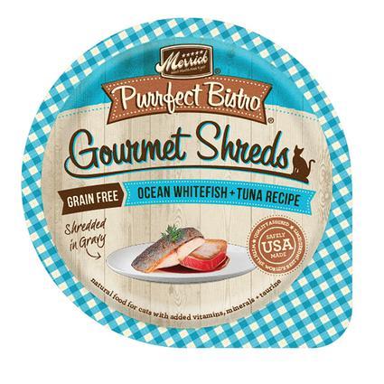 Merrick Purrfect Bistro Gourmet Shreds for Cats, Ocean Whitefish Tuna Recipe