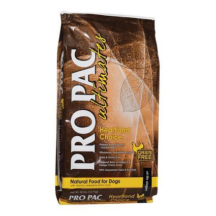 PRO PAC Ultimates Heartland Choice Natural Grain and Gluten Free Formula Dog Food, 28 lb. Bag