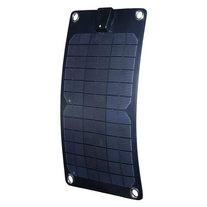 Nature Power 5-Watt Semi-Flex Monocrystalline Solar Panel 12-Volt Battery Maintainer