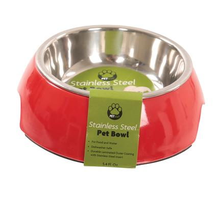 Small Pet Bowl, Red