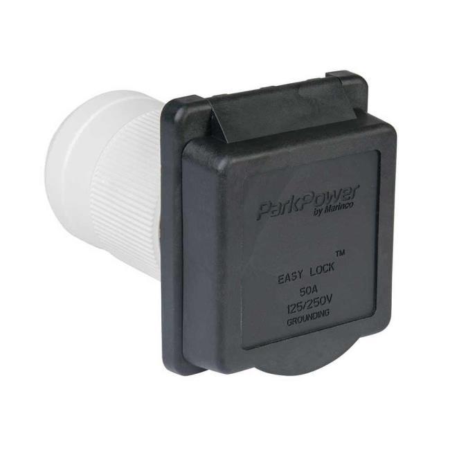 Weekender by ParkPower Electrical Inlet, 50 Amp Black Inlet - Power ...
