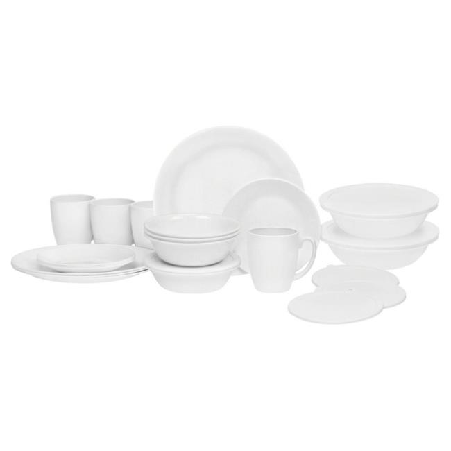 Image Corelle ® Livingware ™ 24-piece Dinnerware Set Winter Frost White. To .  sc 1 st  C&ing World : corelle melamine dinnerware sets - pezcame.com