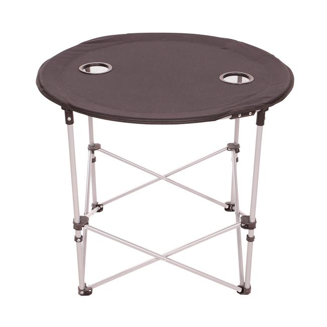 Image Round Folding Table, Black. To Enlarge The Image, Click Or Press  Enter .
