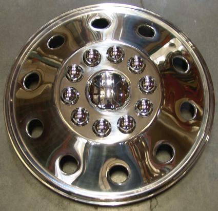 Namsco Stainless Steel Wheel Covers, Set of 4 - 19.5