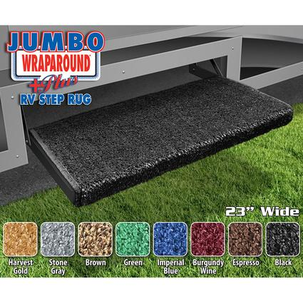 Jumbo Wraparound Plus RV Step Rug, Black, 23