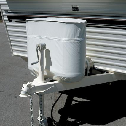 40 lb. Twin Gas Bottle Cover - Polar White