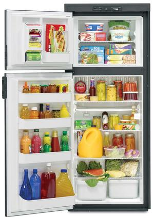Dometic Americana Plus DM2862 2-Way Refrigerator with Icemaker, Double Door, 8.0 Cu. Ft.