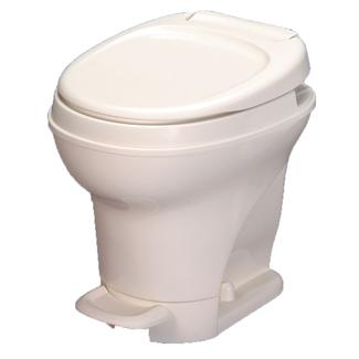 aquamagic v toilet high profile foot flush parchment