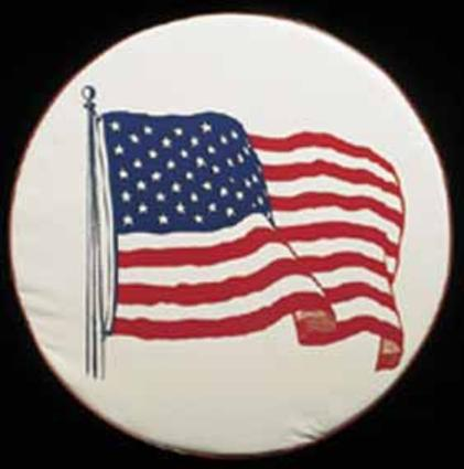 American Flag Spare Tire Cover (28