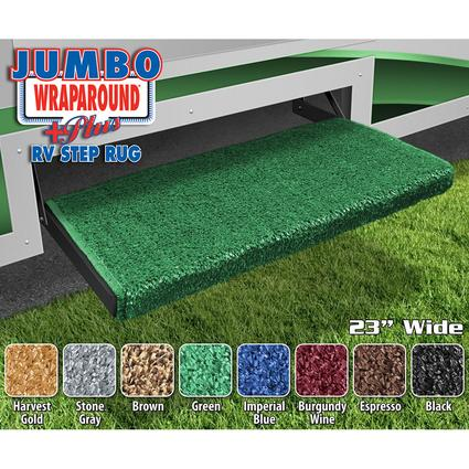 Jumbo Wraparound+Plus RV Step Rug - Green