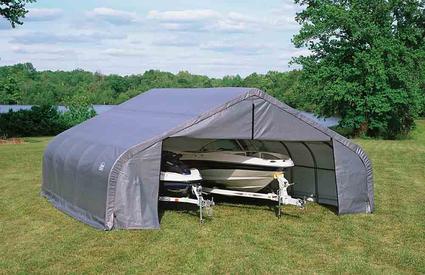 Shelter Logic 12' H Peak Style Double Wide Garage