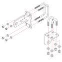 Roadmaster Reflex Steering Stabilizer Mounting Bracket, RBK2