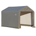 Peak Style Storage Shed 6 x 6 x 6 Gray Cover