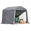 Peak Style Storage Shed 8 x 8 8 Gray Cover