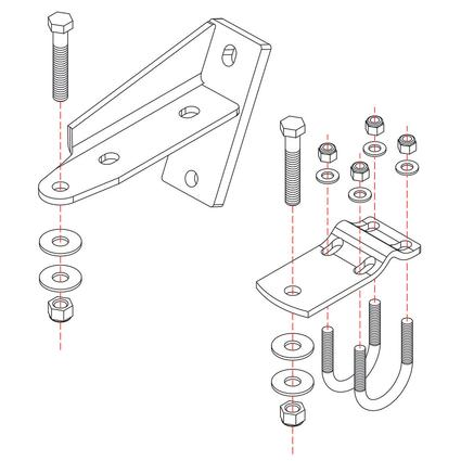Roadmaster Reflex Steering Stabilizer Mounting Bracket, RBK9