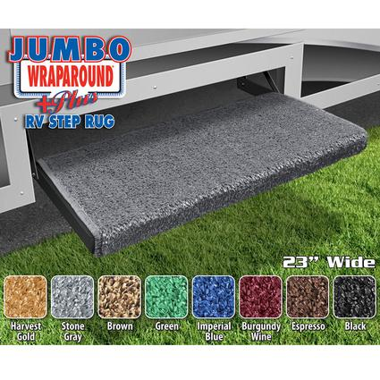 Jumbo Wraparound Plus RV Step Rug - Stone Gray