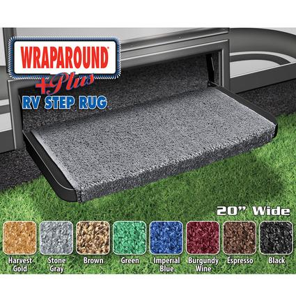 Wraparound Plus RV Step Rug - Stone Gray