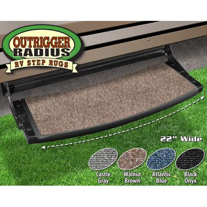 Outrigger Radius RV Step Rug - Walnut Brown, 22