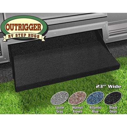 Outrigger RV Step Rug - Black Onyx, 23