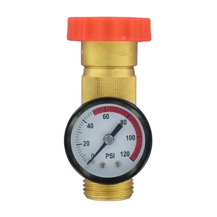 In-Line Water Regulator Gauge Combo - Lead Free