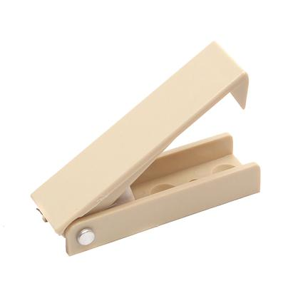 Squared Baggage Door Catch - Colonial White