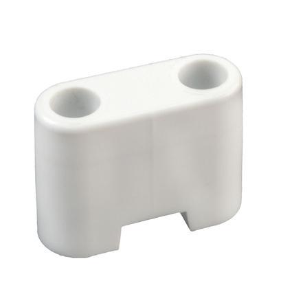 Entry Door Bumper - White Plastic, 1 1/4 Inch