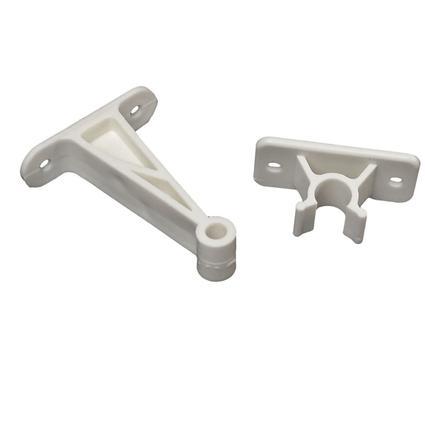 Entry Door Holder - Plastic Clip, 3 Inch White