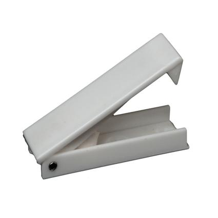Squared Baggage Door Catch - White