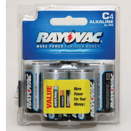Rayovac C Batteries, 4-pack