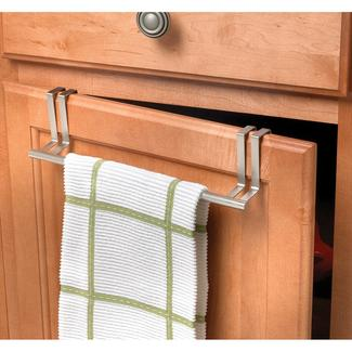 Brushed Nickel Over Door Towel Bar