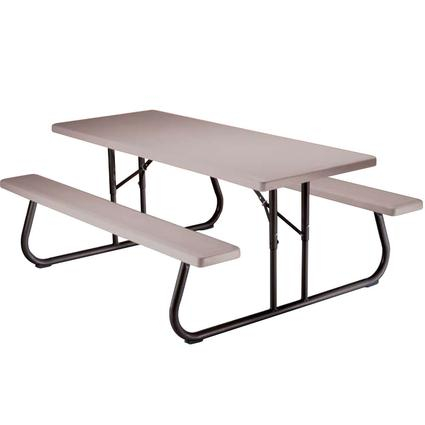 Folding Picnic Table 6 foot, Putty